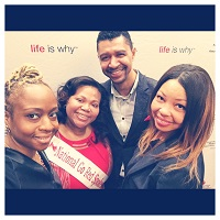 Our CEO w/ S. Desarmes, K. Powell and Go Red Ambassador